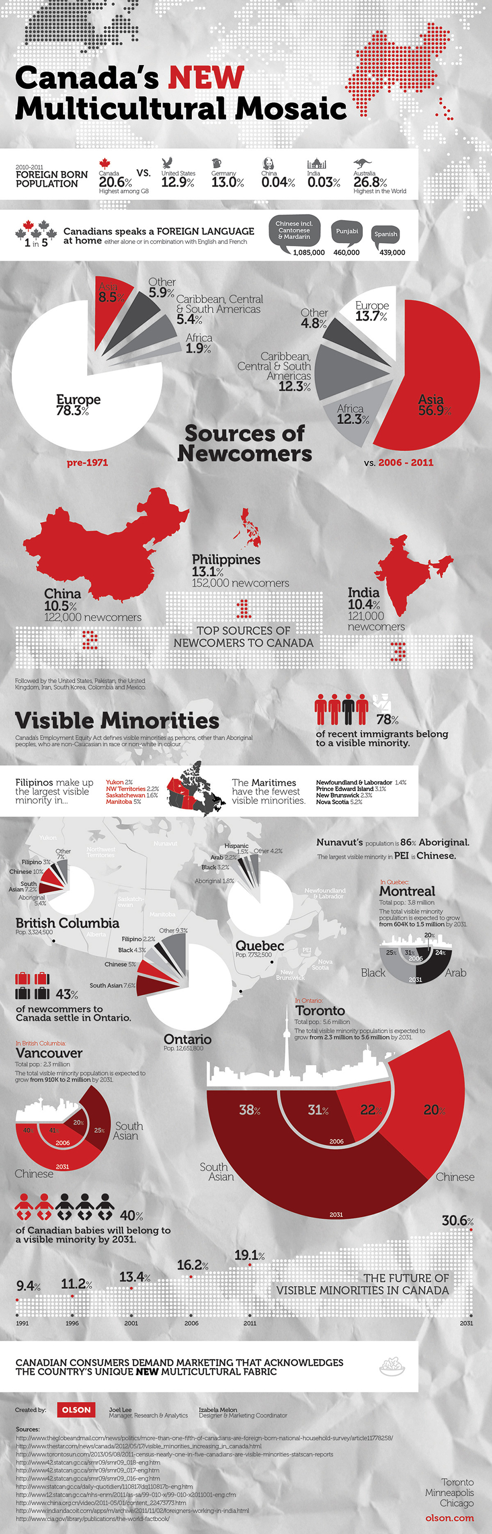 multicultural infographic canada