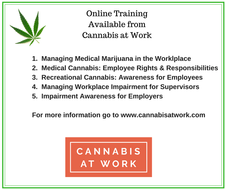 Online Training AvailableFrom Cannabis at Work 2