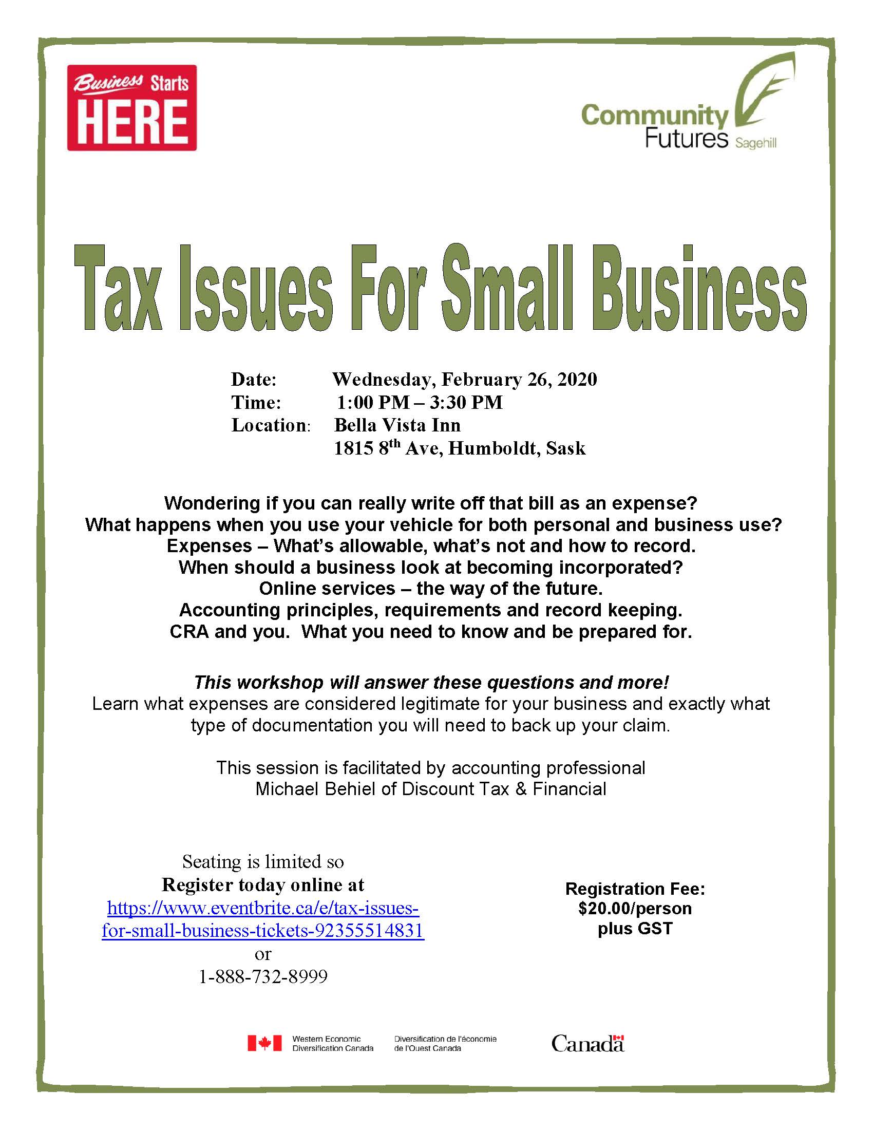 Tax Issues for Small Business