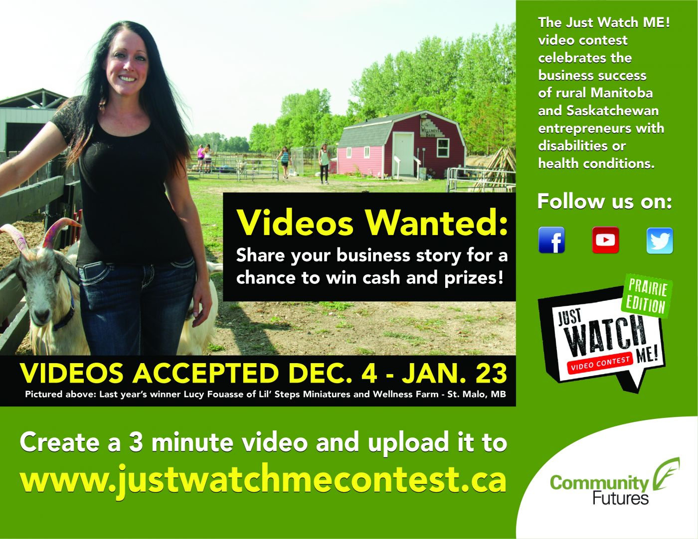 $1,000 Prize Available for Entrepreneurs With Disabilities: Just Watch ME! Video Contest Open Until Jan 23, 2018