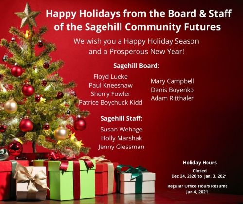 Sagehill Community Futures Holiday Hours