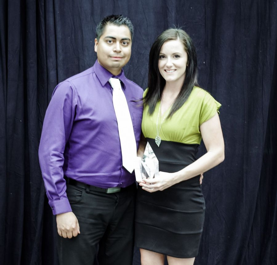 Liz and Jordan win big at the 2015 EBEX awards in Estevan
