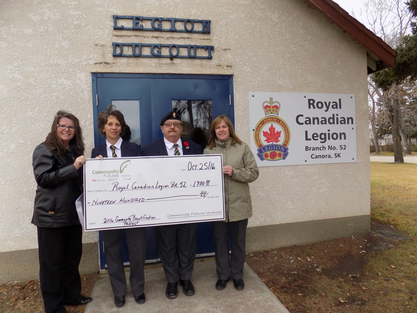 Congratulations to the Canora Branch of the Royal Canadian Legion No. 52