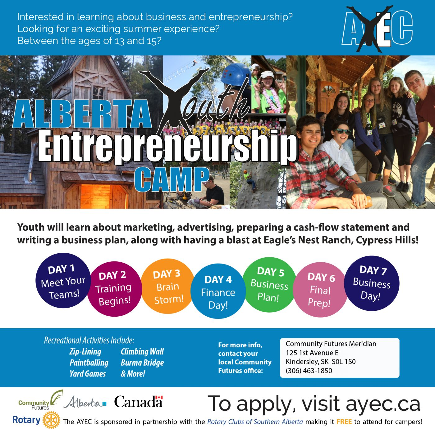 Is your 13 to 15 year old interested in entrepreneurship? Send them to camp for FREE!